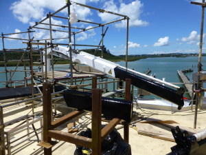 """Oceanic Discoverer"" on Slipway in Port Whangarei"
